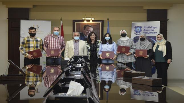 """عمان الأهلية تُعلن أسماء الفائزين بجائزة الحوراني للفنون والتصميم في دورتها الأولى """"مئوية الإبداع والابتكار"""""""