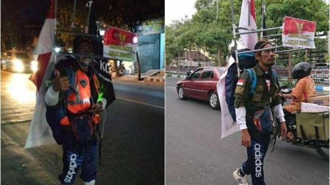 ناشط إندونيسي يقطع 800 كيلومتر سيراً على الأقدام ليلتقي بالرئيس