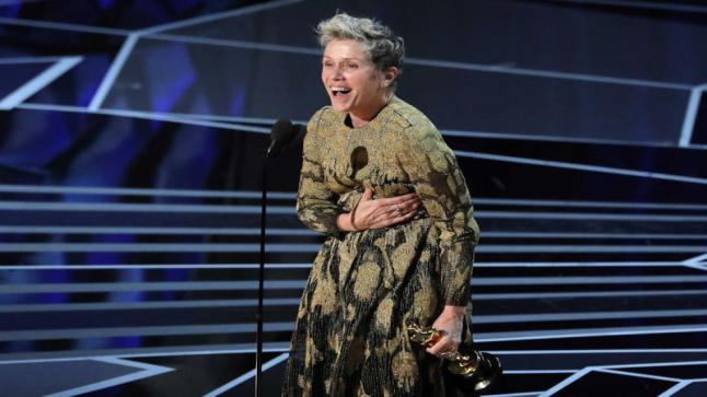 الممثلة الشهيرة فرانسيس مكدورماند تحصد جائزة أوسكار أفضل ممثلة للمرة الثالثة في تاريخها