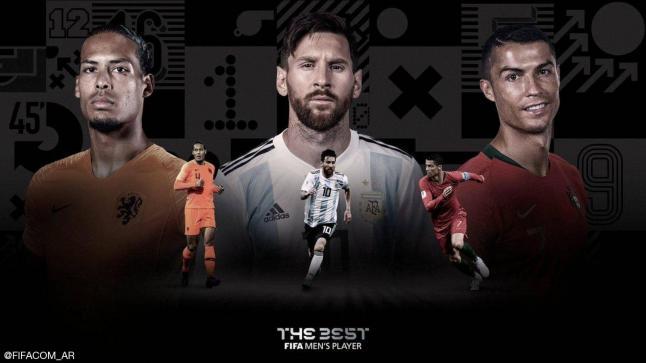 الفيفا تعلن عن أسماء ثلاثة لاعبين المتنافسين على جائزة أفضل لاعب في العالم