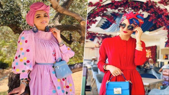 لفات حجاب صيفية بالتوربان من غادة عثمان