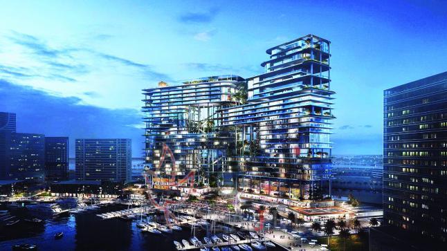 حدائق بابل المعلّقة في أيقونة من الصلب والزجاج في دبي