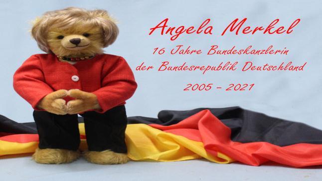 صنع دمية دب ميركل في ألمانيا