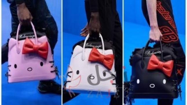 """فى عرض أزياء Balenciaga بباريس شنط """"كيتى"""" للرجال وجيبونات ضخمة للنساء"""