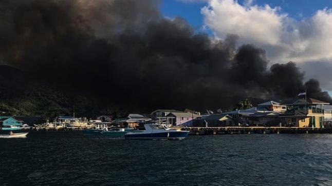 حريق في منتجع كاريبي يدمر أكثر من 200 منزل