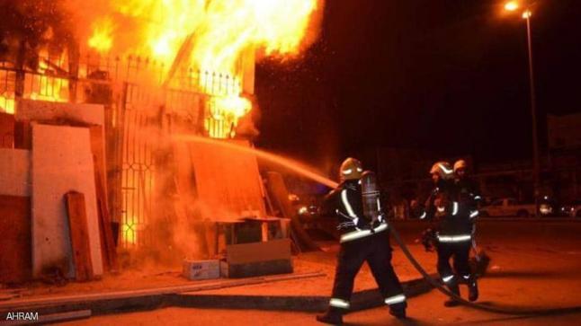 حريق هائل في كنيسة بالقاهرة.. و10 سيارات إطفاء لإخماده