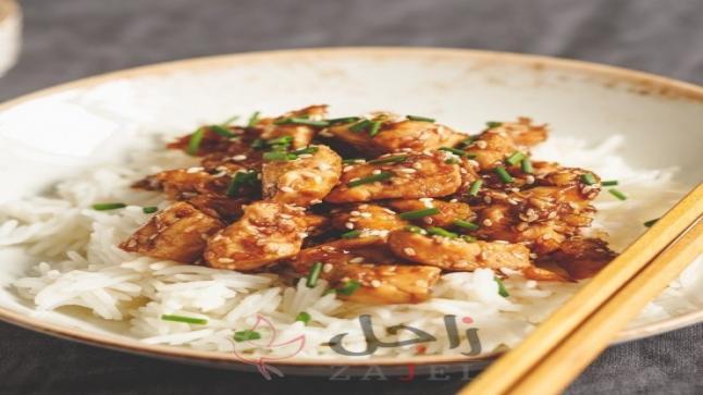 دجاج بالسمسم على طريقة المطاعم