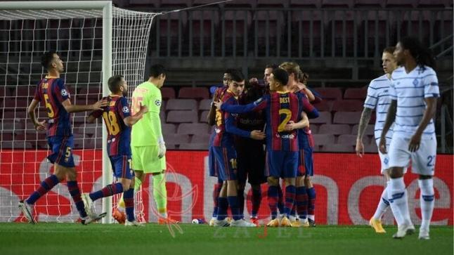 خسارة دينامو كييف أمام برشلونة