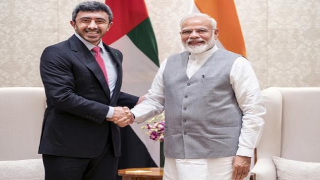 عبدالله بن زايد: العلاقات الاستراتيجية بين الإمارات والهند تشهد نقلة نوعية